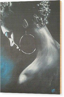 Blu Steele Wood Print