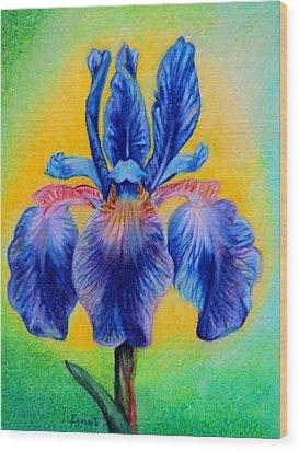 Blue ... Wood Print by Zina Stromberg