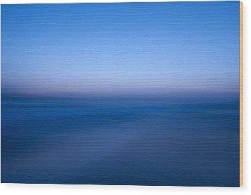 Blue #1 Wood Print by Catherine Lau