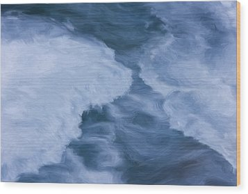 Blue 3                              Wood Print by Jack Zulli