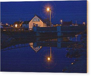 Blue 4 U Wood Print by Tony Reddington
