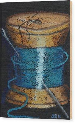 Blue 6 Wood Print by Joseph Hawkins