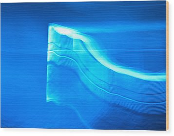 Blue Abstract 3 Wood Print by Mark Weaver