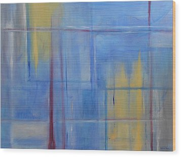 Blue Abstract Wood Print by Jamie Frier