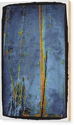 Wood Print featuring the photograph Blue Abstract Seven by Craig Perry-Ollila