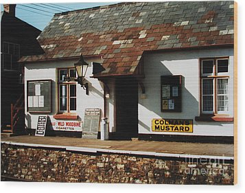 Blue Anchor Ticket Office Wood Print by Martin Howard