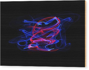 Wood Print featuring the digital art Blue And Red by Angel Jesus De la Fuente