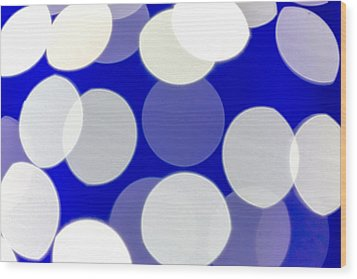 Blue And White Light Wood Print