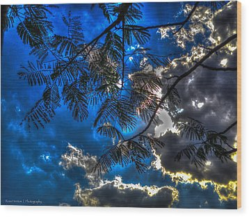 Wood Print featuring the photograph Blue And Yellow Skies by Ross Henton