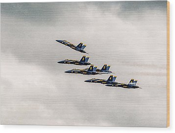 Blue Angels Wood Print by Eduard Moldoveanu