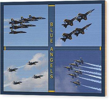 Wood Print featuring the photograph Blue Angels by John Freidenberg