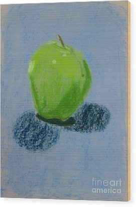 Blue Apple Wood Print by Christopher Murphy