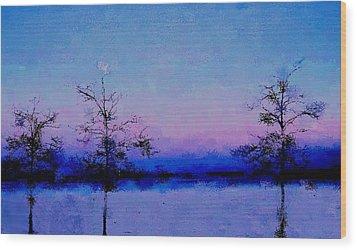 Blue Ballet Wood Print