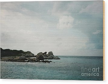 Blue Bay Beach Wood Print by Kim Fearheiley