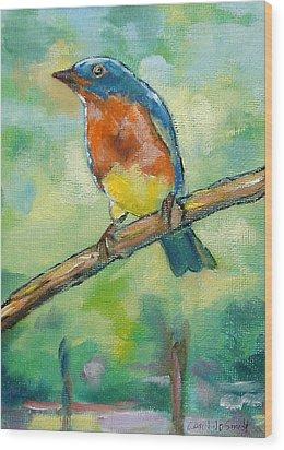 Blue Bird 2 Wood Print