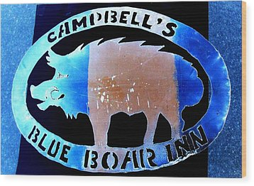 Wood Print featuring the photograph Blue Boar Inn II by Larry Campbell