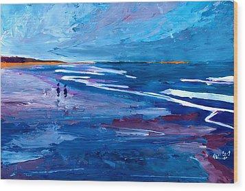 Blue Californian Seascape In Big Sur Wood Print by M Bleichner