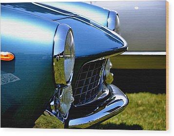 Wood Print featuring the photograph Blue Car by Dean Ferreira