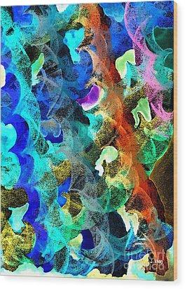 Blue Chain Wood Print by Julio Haro