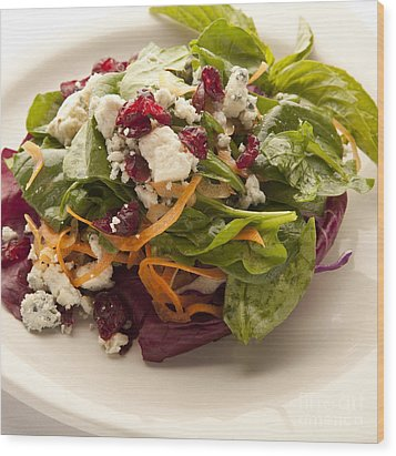 Blue Cheese Salad Wood Print by New  Orleans Food