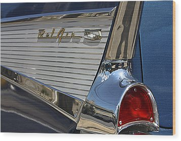 Blue Chevy Bel Air Wood Print by Patrice Zinck