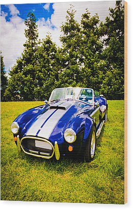 Blue Cobra Wood Print by Phil 'motography' Clark