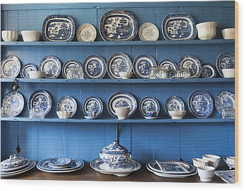 Blue Collection Wood Print by Svetlana Sewell