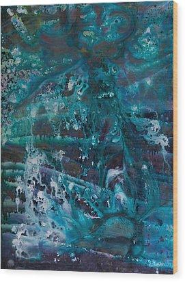 Blue Cosmos II Wood Print