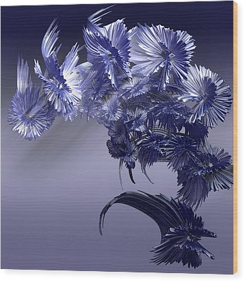 Blue Daisies Wood Print by Melissa Messick