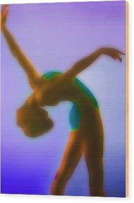 Blue Dance Wood Print by Tony Rubino