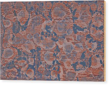 Blue Wood Print by Darice Machel McGuire