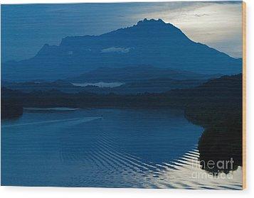 Wood Print featuring the photograph Blue Dawn  by Gary Bridger
