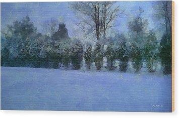 Blue Dawn Wood Print by RC deWinter
