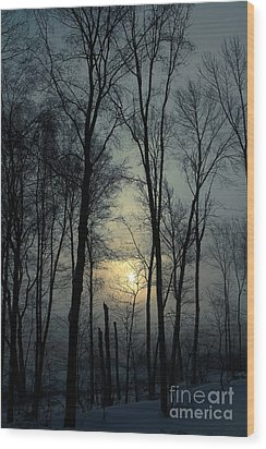 Blue Daybreak Wood Print