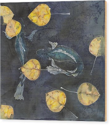 Blue Depths Wood Print