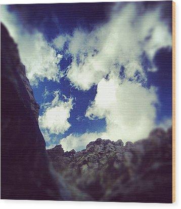 Blue Desert Sky Wood Print by Edward Pollick