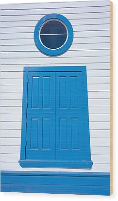 Blue Door Fisherman's Wharf San Francisco Wood Print