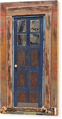 Blue Door Wyoming Wood Print