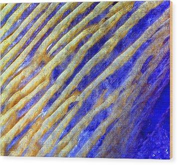 Blue Dunes Wood Print by Adam Romanowicz