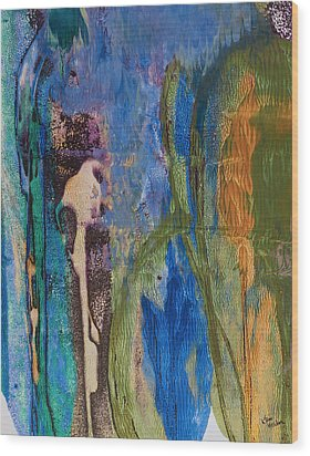 Blue Eden Wood Print