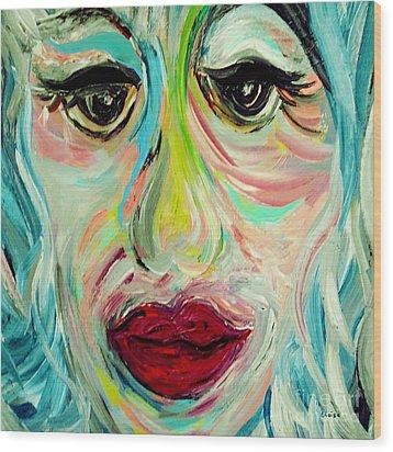 Blue Wood Print by Eloise Schneider