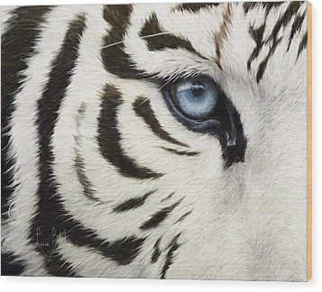 Blue Eye Wood Print by Lucie Bilodeau