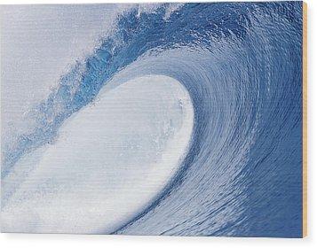 Blue Eye Wood Print by Sean Davey
