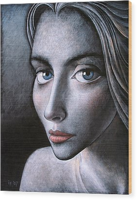 Blue Eyes Wood Print by Ilir Pojani