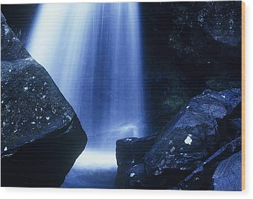 Wood Print featuring the photograph Blue Falls by Rodney Lee Williams