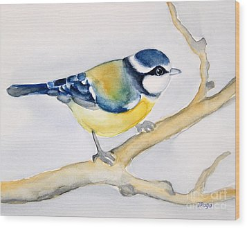 Blue Finch Wood Print by Inese Poga