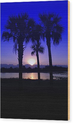 Wood Print featuring the photograph Blue Florida Sunrise by Susan D Moody