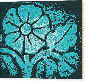 Blue Flower Wood Print by Chris Berry