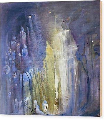 Blue Forest  Wood Print by Tanya Byrd