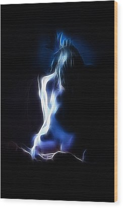Blue Form 4022 Wood Print by Timothy Bischoff